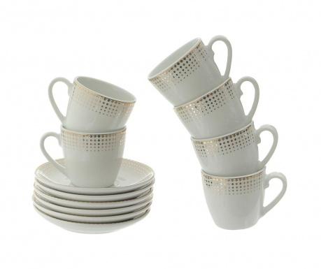 Сервиз 6 чашки и 6 чинийки Brenda Gold