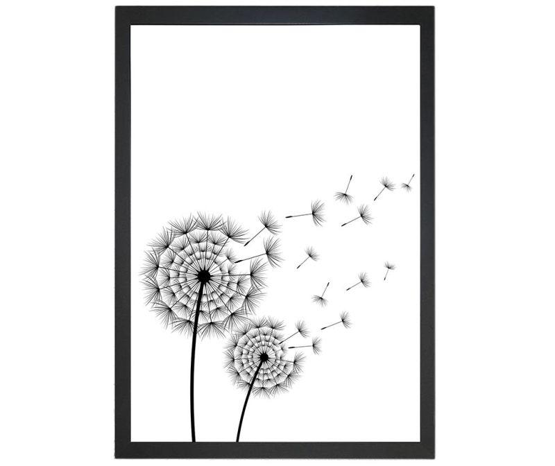 Obraz Blowing Dandelion 24x29 cm