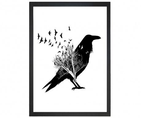 Obraz Crow Silhouette 24x29 cm