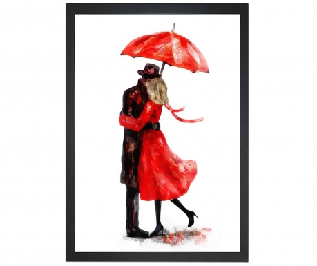 Obraz Couple Under Umbrella 24x29 cm