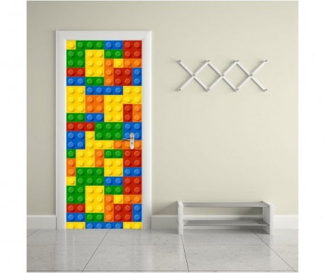 Sticker pentru usa Building Blocks