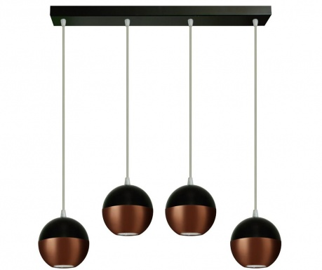 Lustra Midway Wide  Four Black Copper