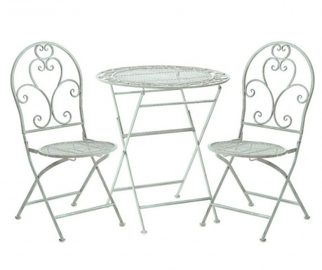 Комплект маса и 2 сгъваеми стола за екстериор Abrielle