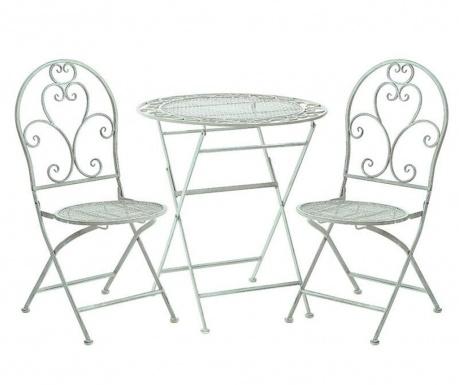 Vrtni set - zložljiva miza in 2 stola Abrielle