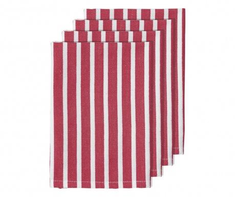 Set 4 stolna ubrusa Bahamas Stripe Pink 45x45 cm