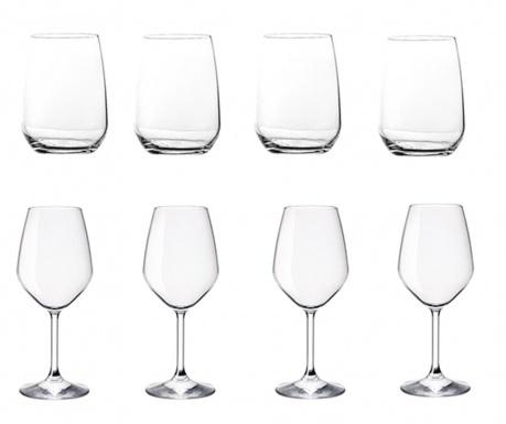 Set 4 čaše za vodu i 4 čaše za vino Restaurant