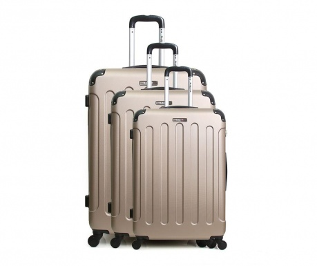 Zestaw 3 walizki na kółkach Madrid Champagne