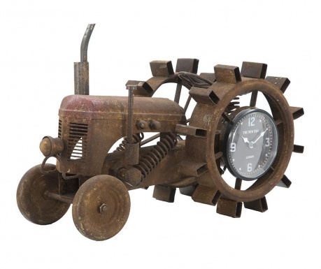 Stolové hodiny Rusty Tractor