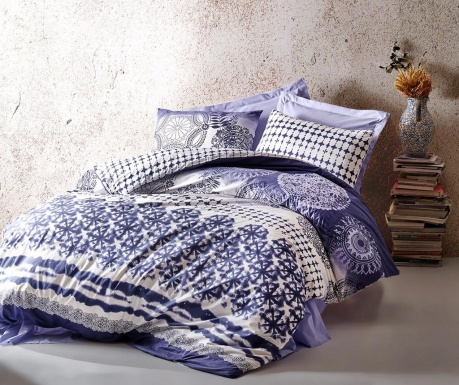 Спално бельо King Ranforce Lucca Blue