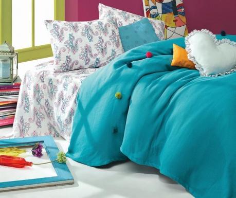 Спално бельо Single Ranforce Pique Fancy Turquoise