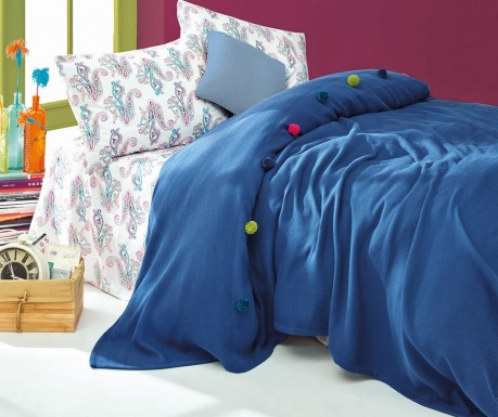 Спално бельо King Ranforce Pique Fancy Navy Blue