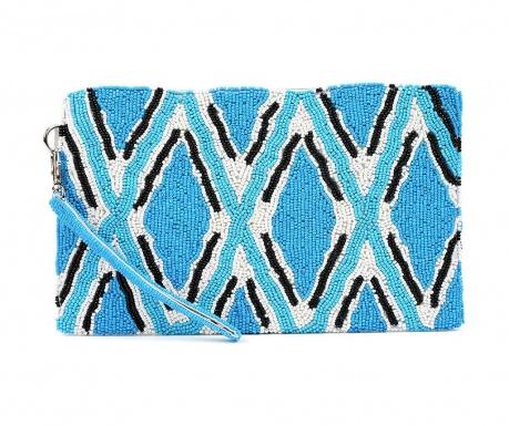 Clutch torbica Geometric Blue