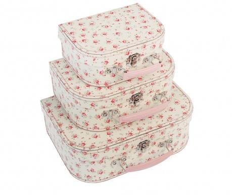 Set 3 valize decorative La Petite Rose