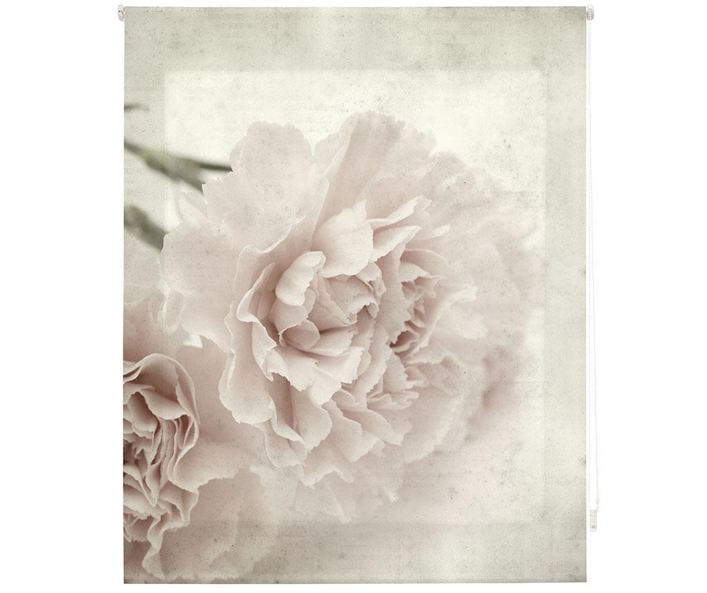 Jaluzea tip rulou Sepia Bloom 120x180 cm - Blindecor, Gri & Argintiu