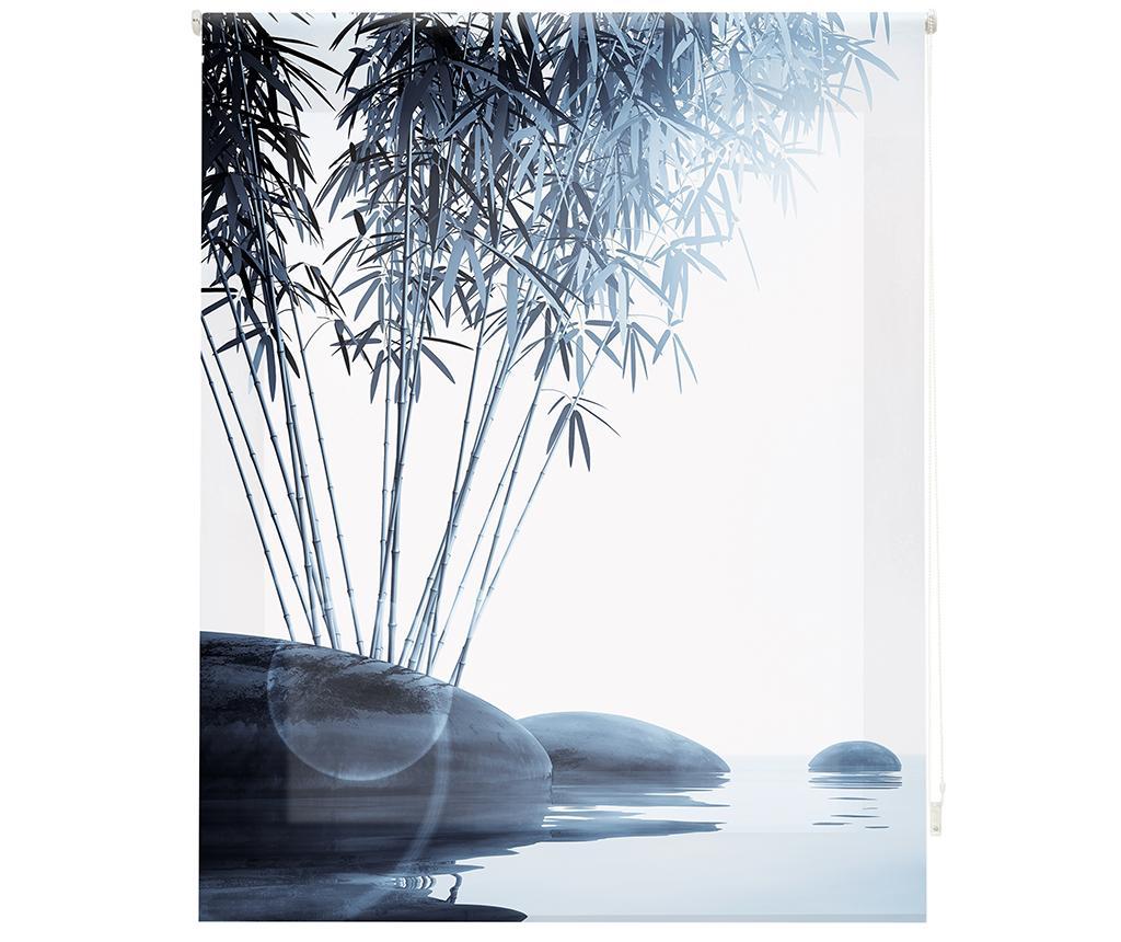 Jaluzea tip rulou Bamboo and Stones 100x180 cm - Blindecor, Gri & Argintiu