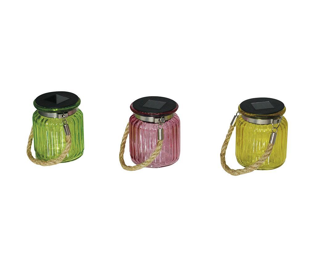 Set 3 lampi solare de exterior - Näve, Multicolor