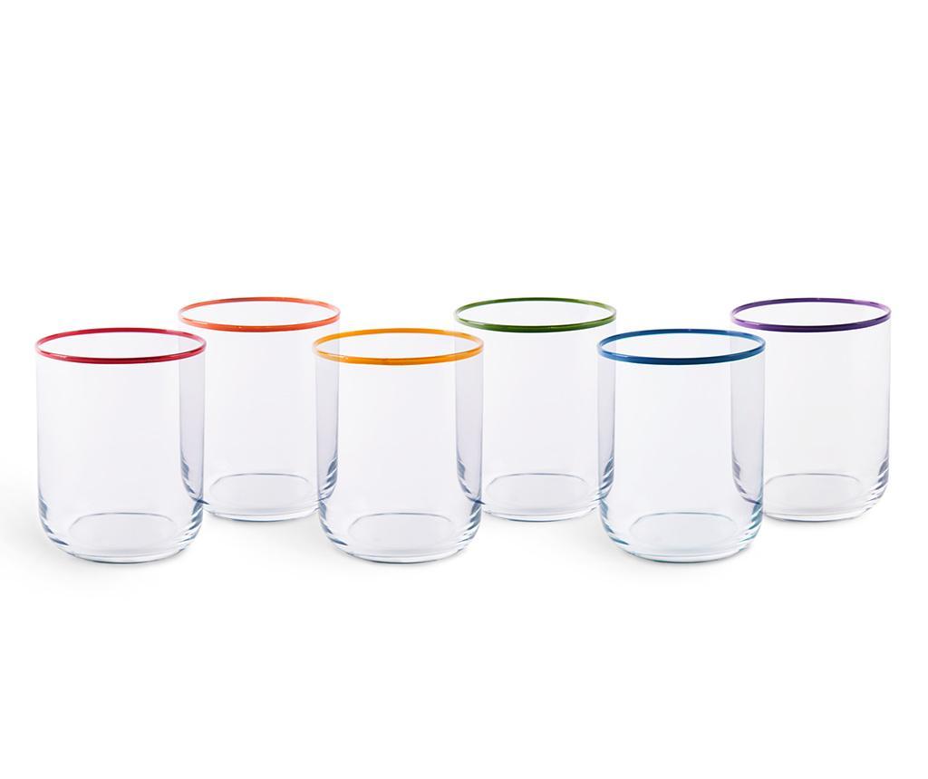 Set 6 pahare Filo Color 350 ml - Excelsa, Alb