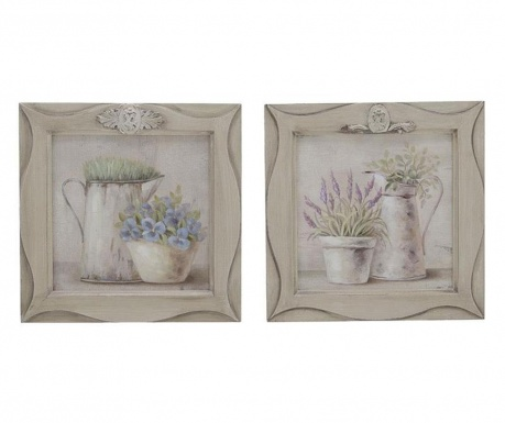 Set 2 tablouri Flowers 28x28 cm