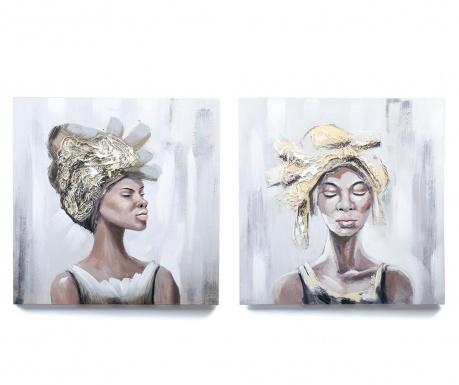 Sada 2 obrazov African Beauty 60x60 cm