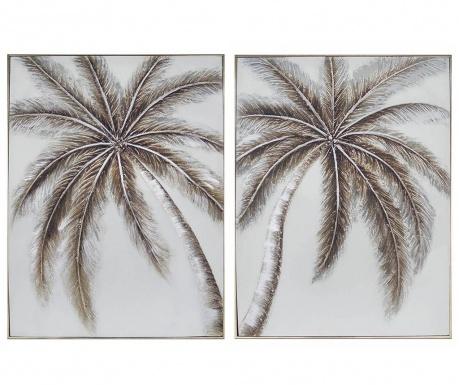 Zestaw 2 obrazów Palm Trees 61x81 cm
