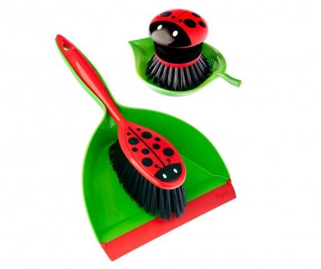 Set pentru curatenie 4 piese Ladybug