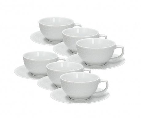 Cleopatra Bianco Tea 6 db Csésze és  6 db kistányér