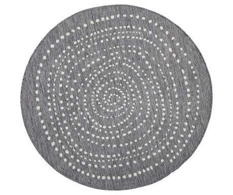 Venkovní koberec Reversible Twin Round Grey