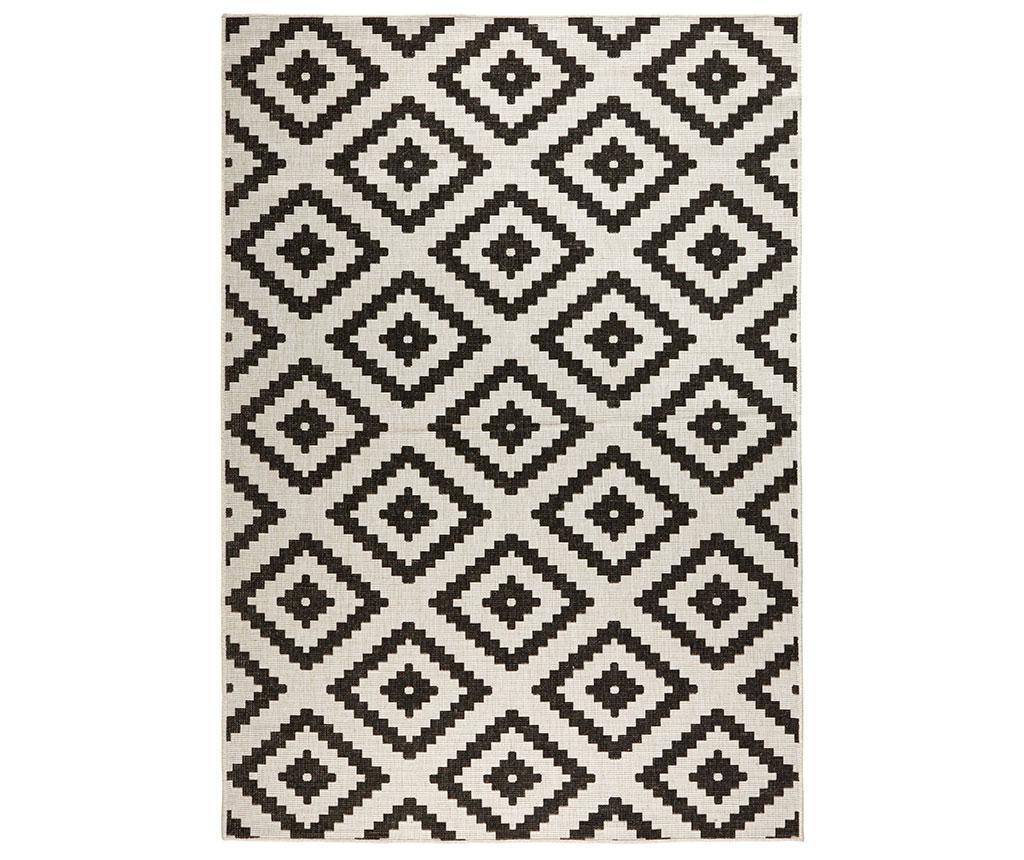 Tepih za vanjski prostor Reversible Twin Rustic Black 120x170 cm