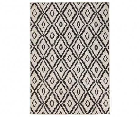 Venkovní koberec Reversible Twin Diamonds Black