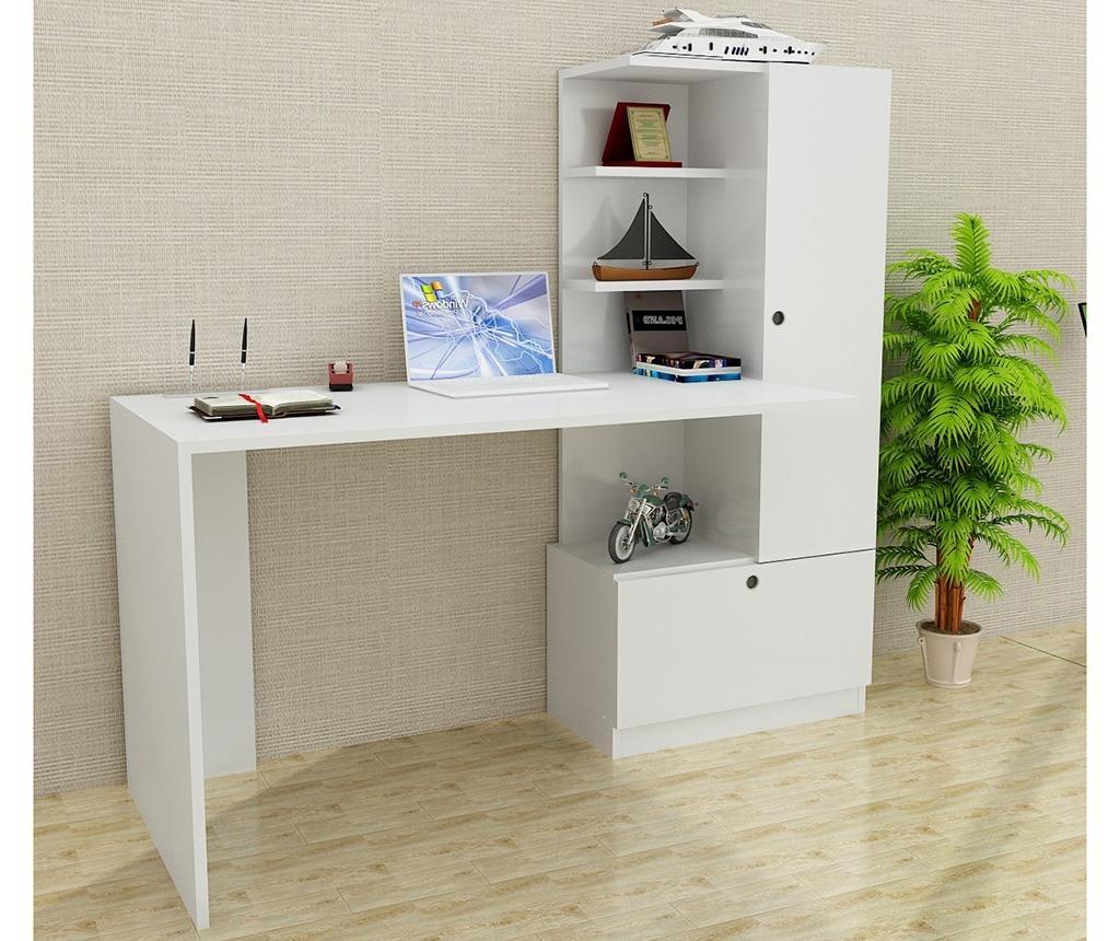 Radni stol sa regalom za knjige Merinos White