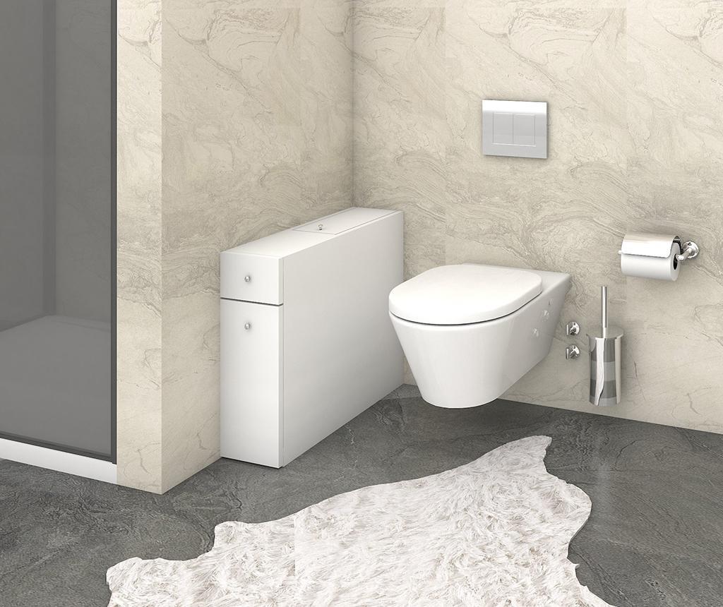 Ormarić za kupaonicu Smart White