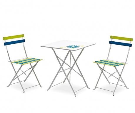 Sada stolík a 2 stoličky do záhrady Levena