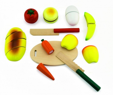 Zestaw zabawkowych owoców i warzyw 10 elementów Small Meals