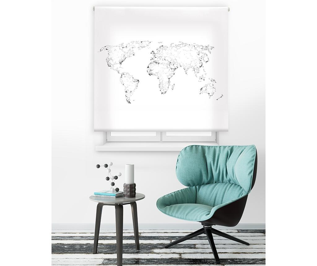 Rolo zvesa World Map 140x180 cm