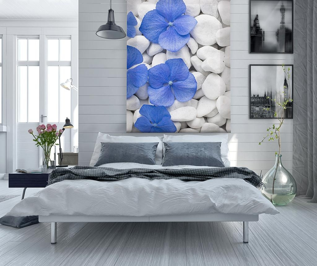 Jaluzea tip rulou Pebbles and Flowers 140x180 cm