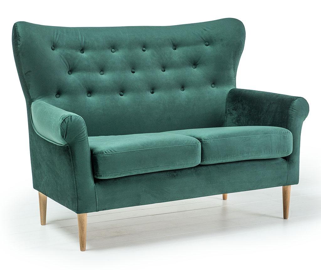 Amelie Dark Green Kétszemélyes kanapé