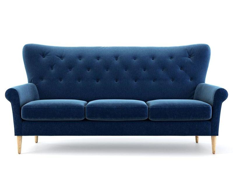 Amelie Navy Blue Háromszemélyes kanapé
