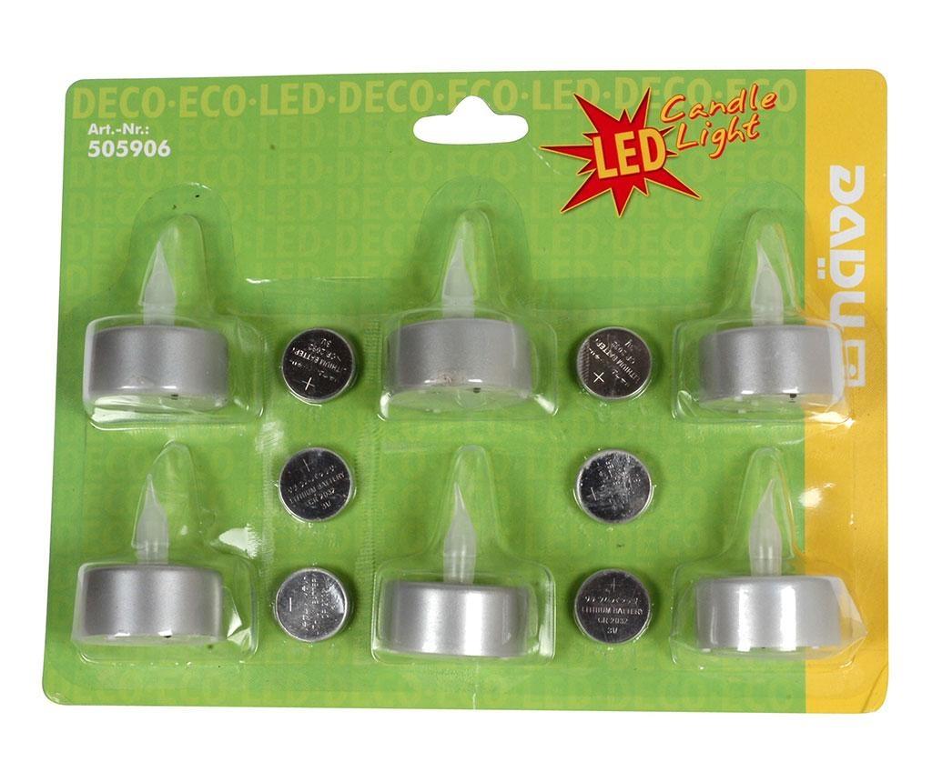 Set 6 LED svijeće Dadu