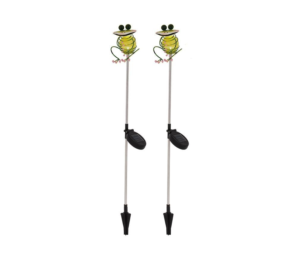 Set 2 lampi solare Chill Frogs