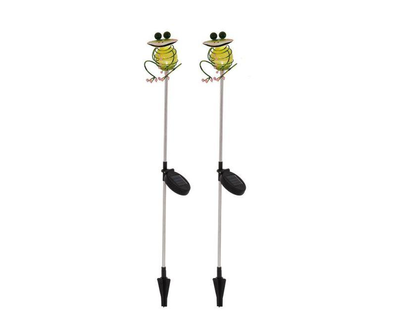 Set 2 solarnih svetilk Chill Frogs