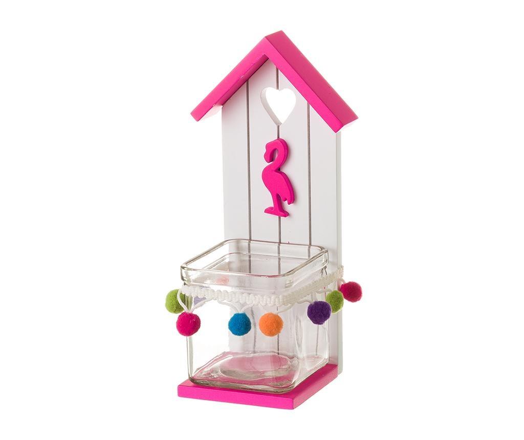 House Flamingo Pink Gyertyatartó
