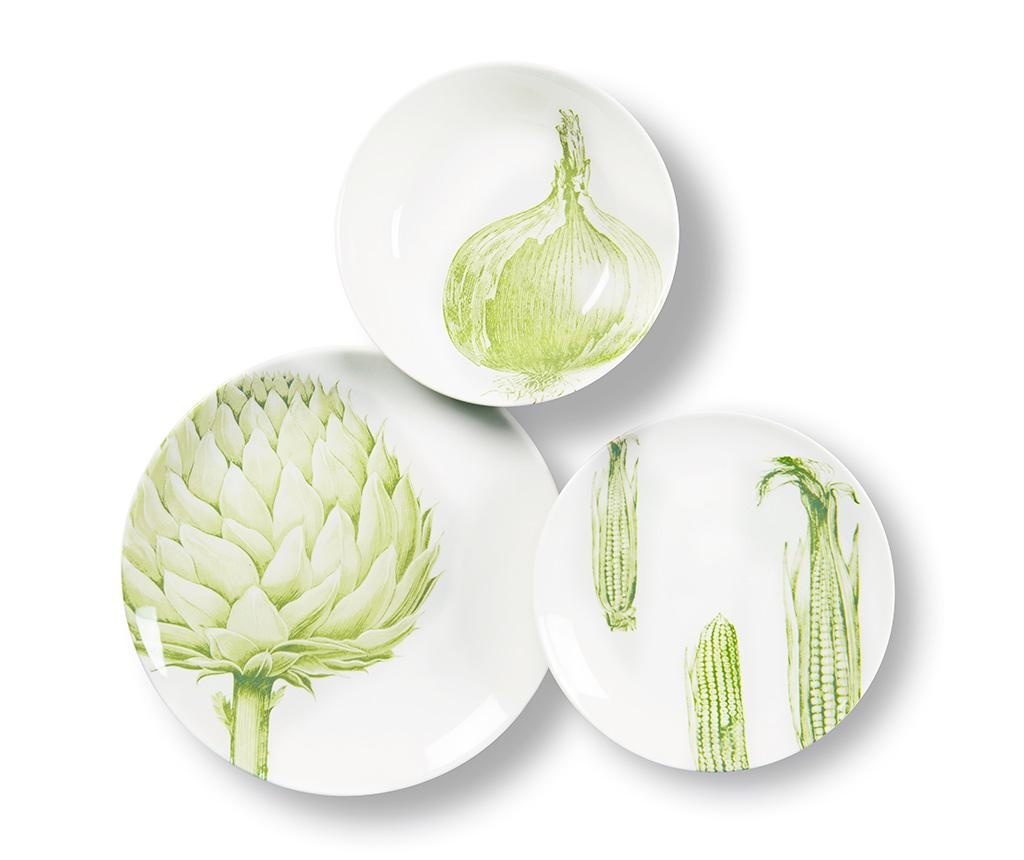 Flore et Faune Vegetables 3 darabos Étkészlet