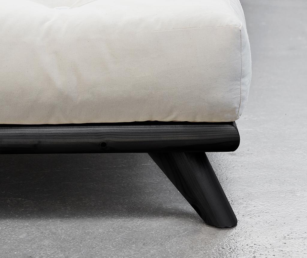 Postelja Senza Black 160x200 cm