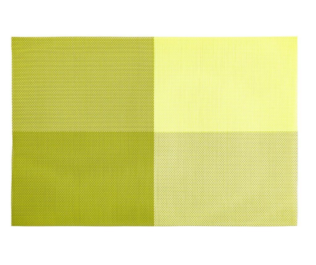 Happy Meal Squares Green Tányéralátét 30x45 cm