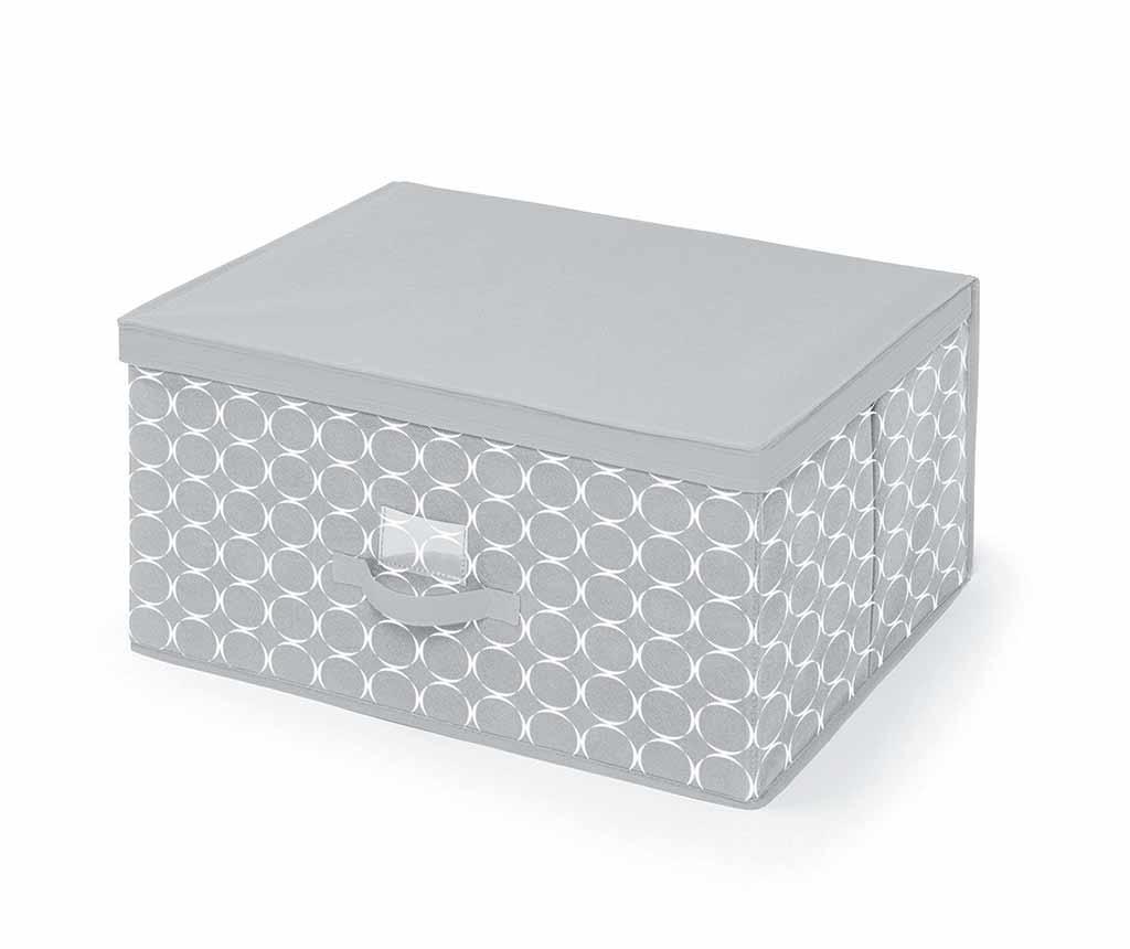 Kutija za spremanje s poklopcem Hoop Grey L