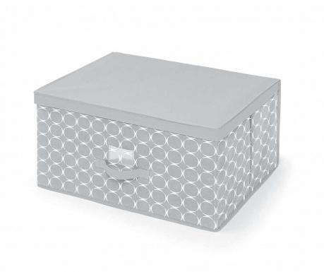 Úložná krabica s vekom Hoop Grey L
