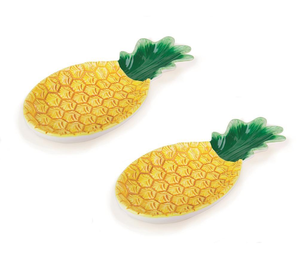 Tropical Pineapple 2 db Szervírozó tál