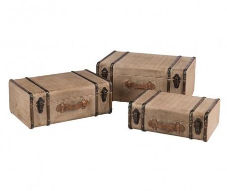 Set 3 ukrasna kovčega Calliope Beige