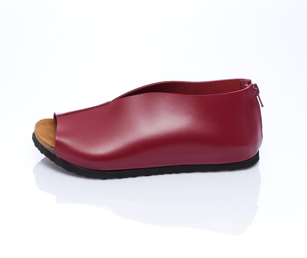 Sandale dama Erika Burgundy 38
