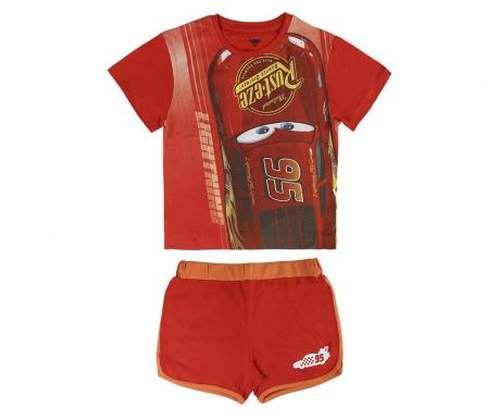 Otroški komplet - majica s kratkimi rokavi in kratke hlače Cars 4 let